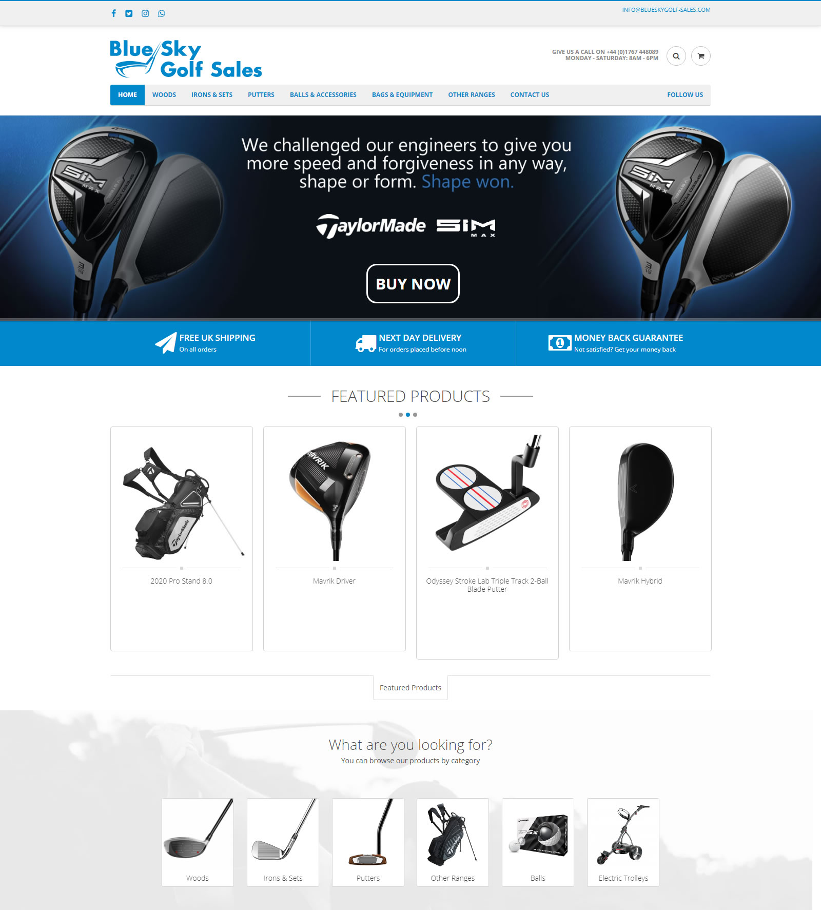Blue Sky Golf Sales